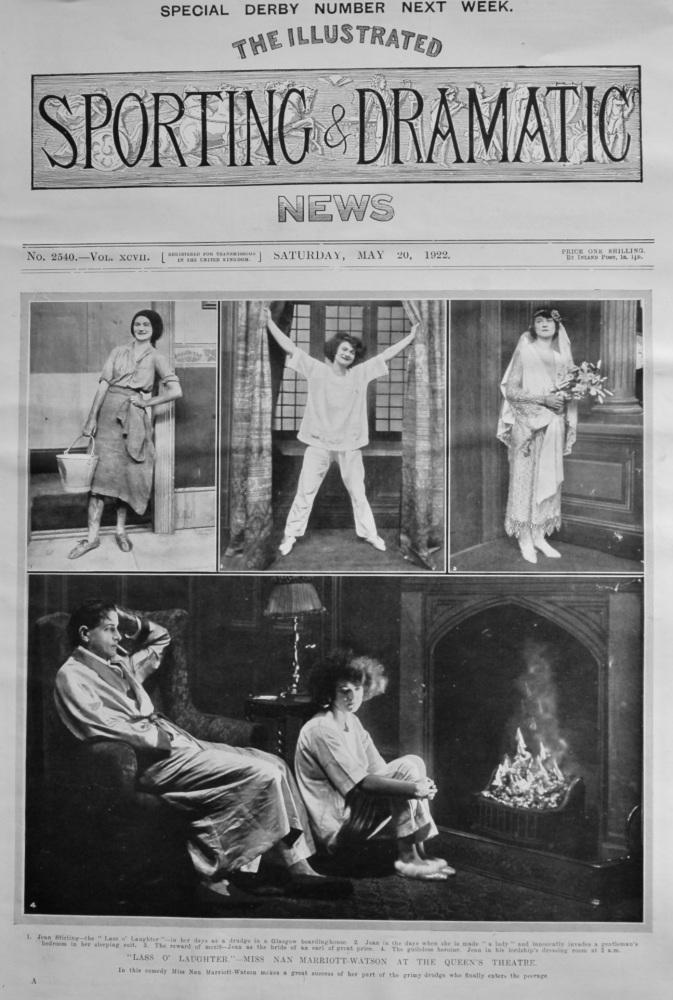 """Lass O' Laughter.""- Miss Nan Marriott-Watson at the Queen's Theatre. 1922."