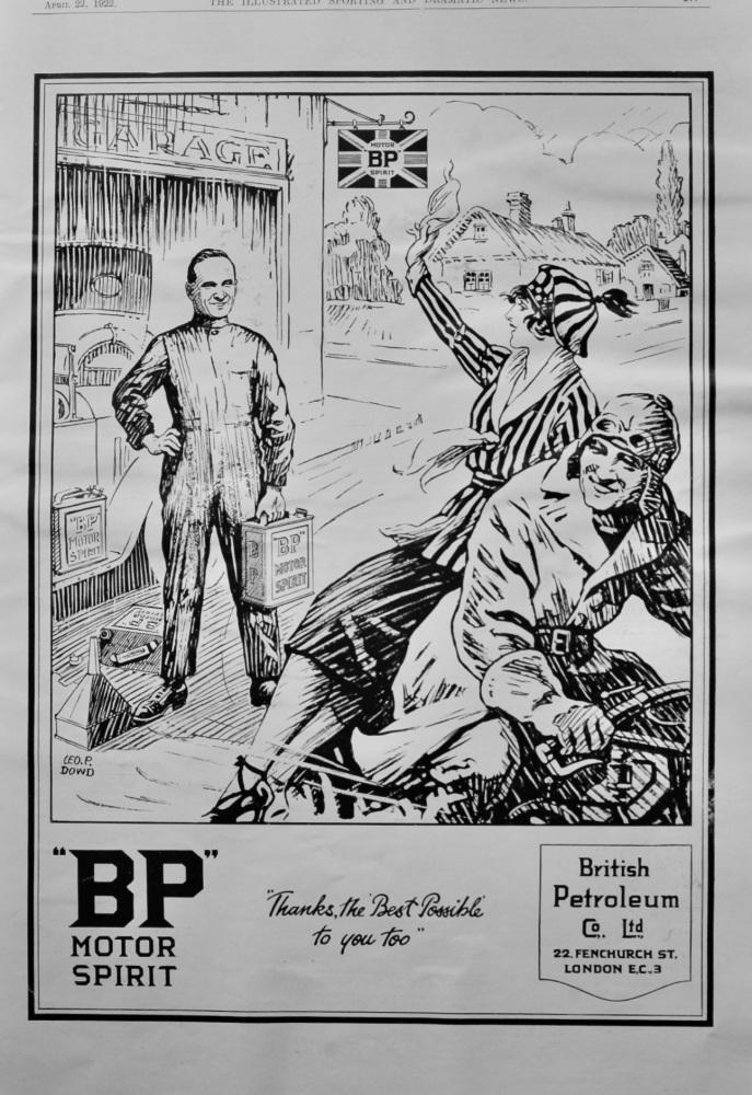 """""""BP"""" Motor Spirit.  1922."""