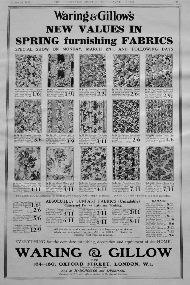 Waring & Gillow Ltd. 1922.