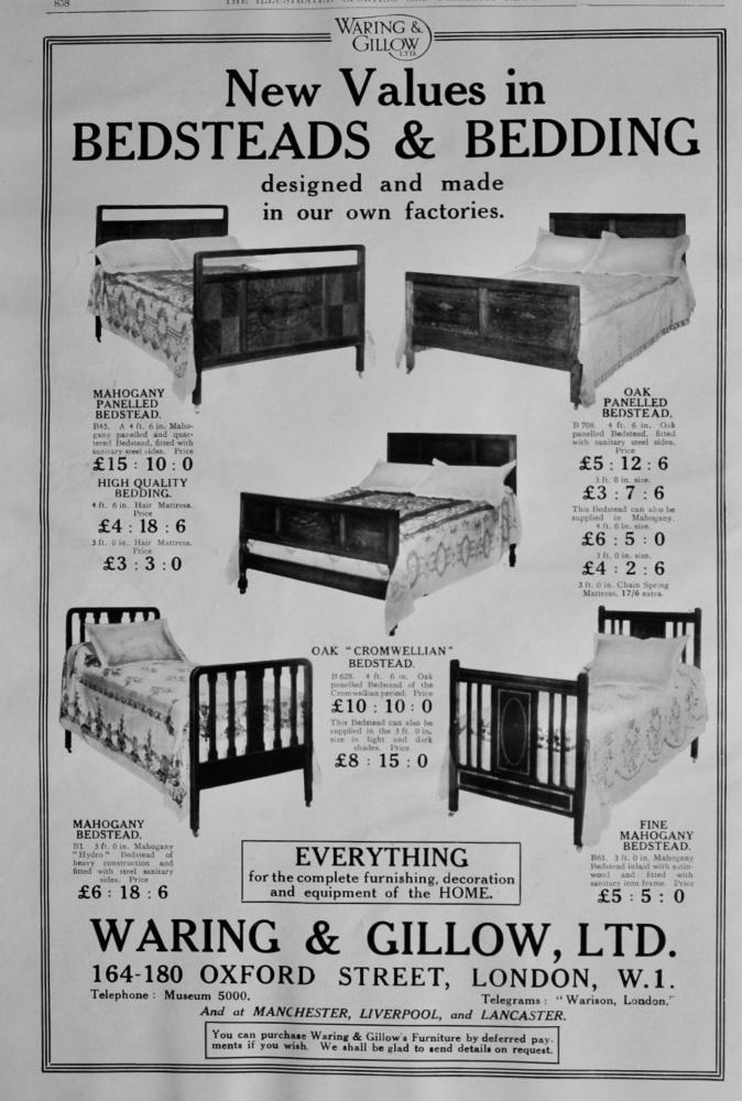 Waring & Gillow, Ltd.  1922.