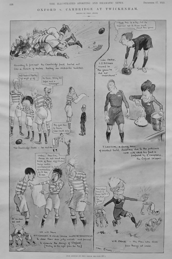 Oxford v. Cambridge at Twickenham.  1921.