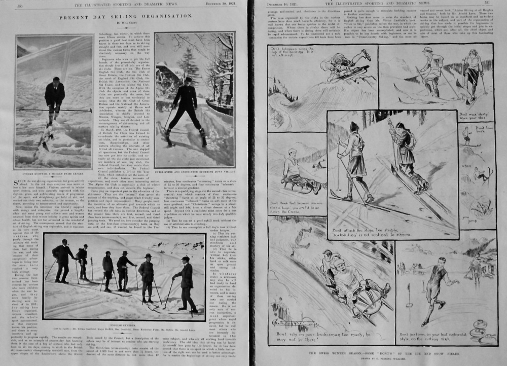 Present Day Ski-ing Organisation.  1921.
