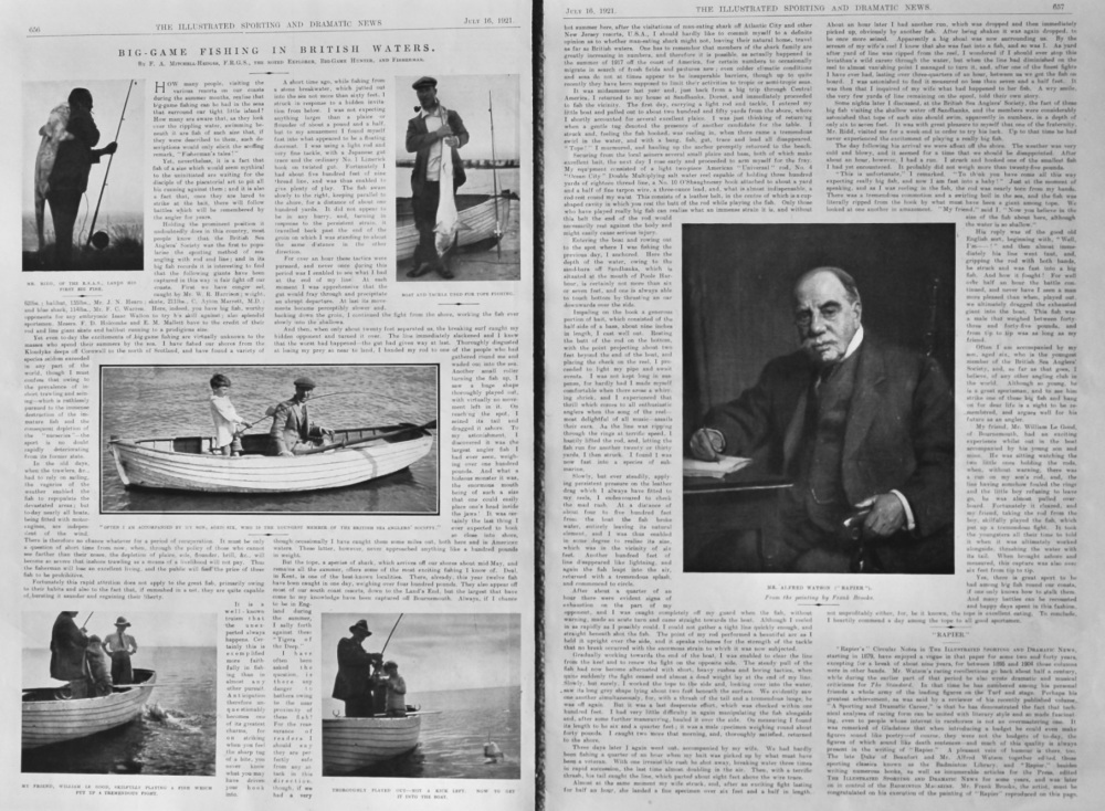 Big-Game Fishing in British Waters.  1921.