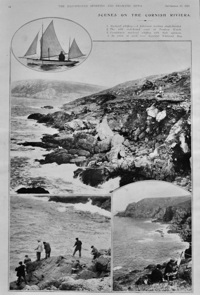 Scenes on the Cornish Riviera.  1921.