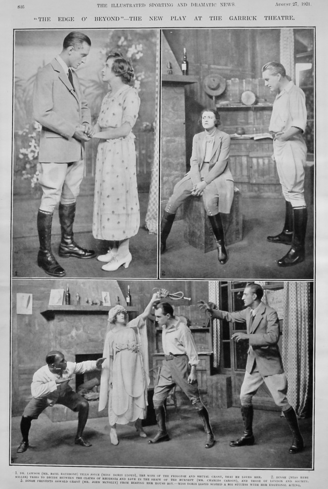 """""""The Edge o' Beyond""""- The New Play at the Garrick Theatre. 1921."""
