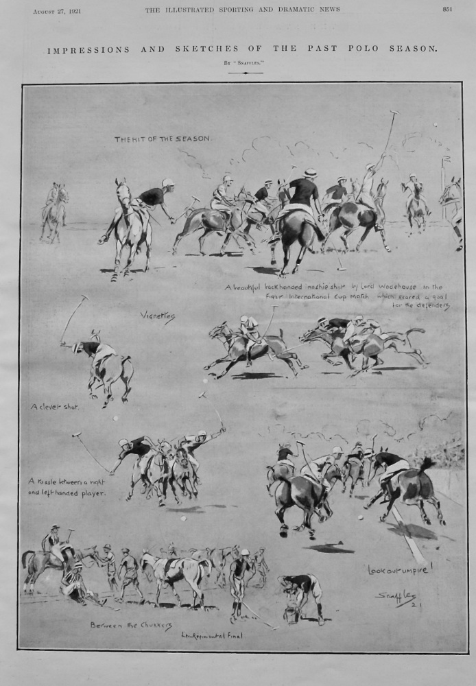 Impressions and Sketches of the Past Polo Season.  1921.