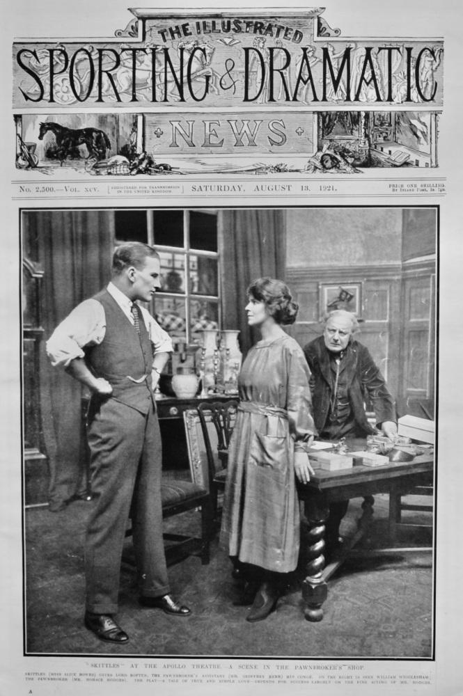 """Skittles"" at the Apollo Theatre.- A Scene in the Pawnbroker's Shop.  1921."
