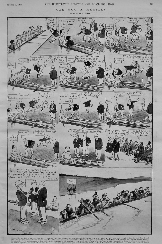 Are you a Menial ?.  (Rowing)  1921.