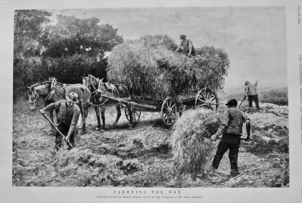 Carrying the Hay.  1921.
