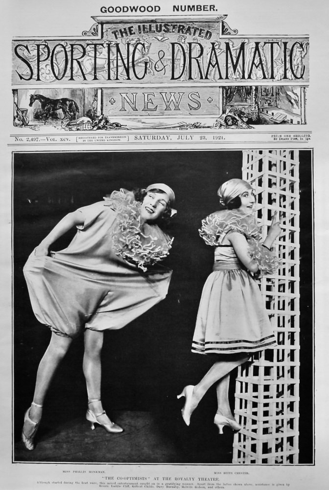 """""""The Co-Optimists"""" at the Royalty Theatre.  1921."""