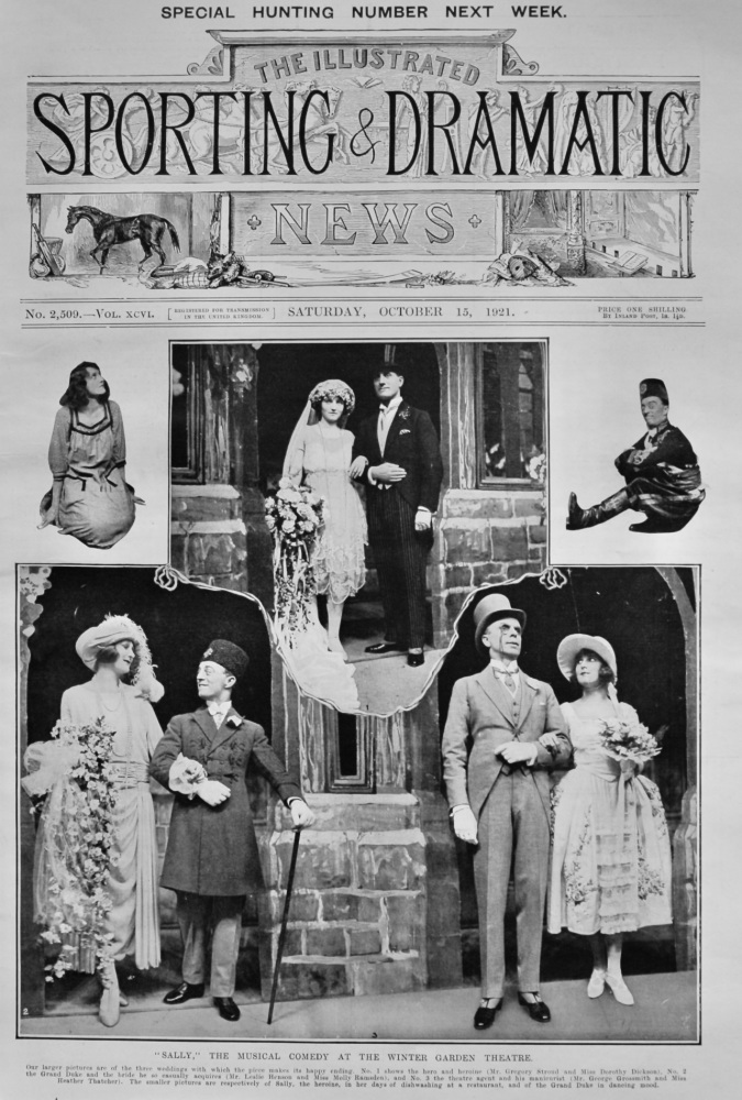 """""""Sally,""""  The Musical Comedy at the Winter Garden Theatre.  1921."""