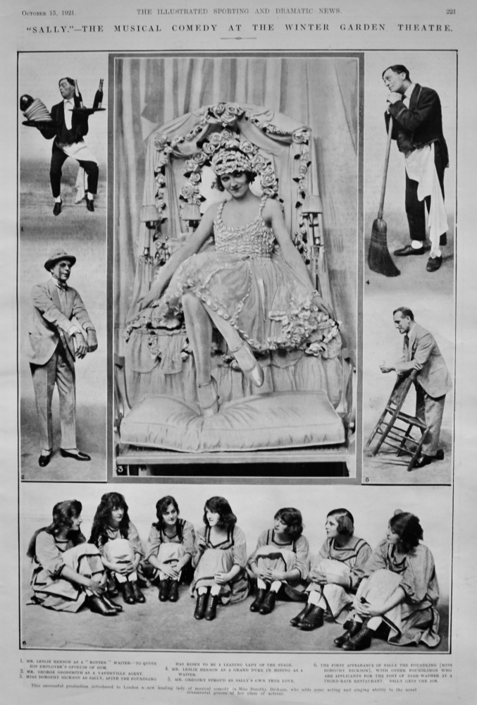 """""""Sally.""""- The Musical Comedy at the Winter Garden Theatre.  1921."""