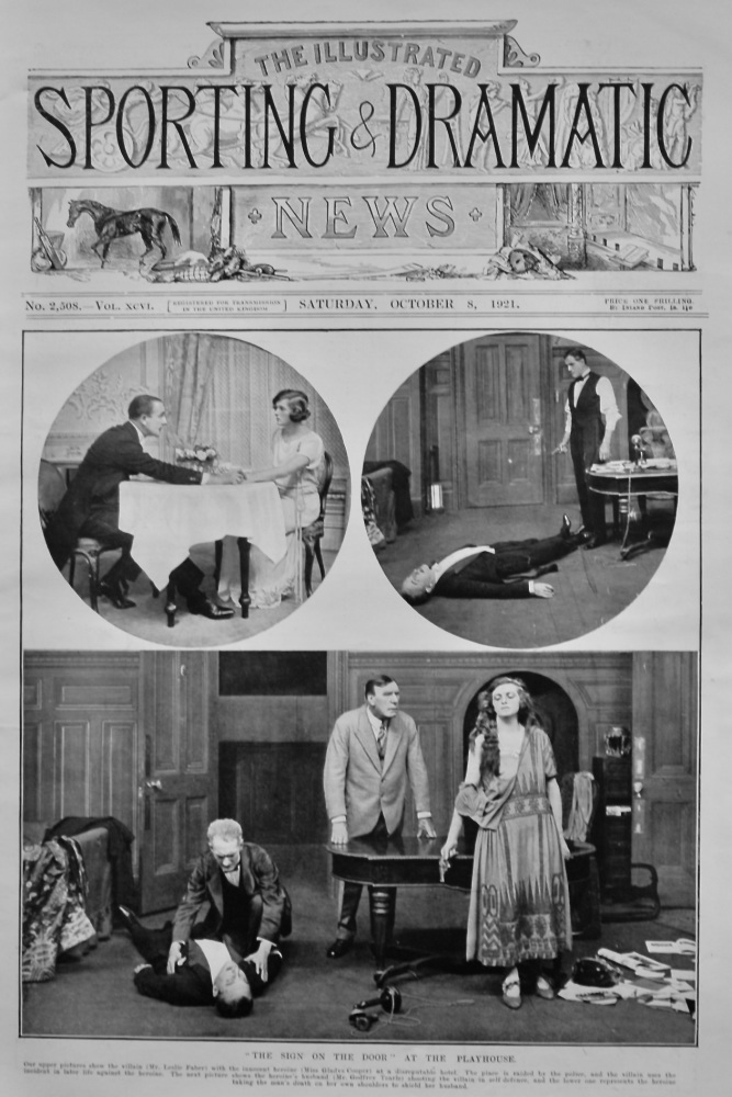 """""""The Sign on the Door"""" at the Palace Theatre.  1921."""