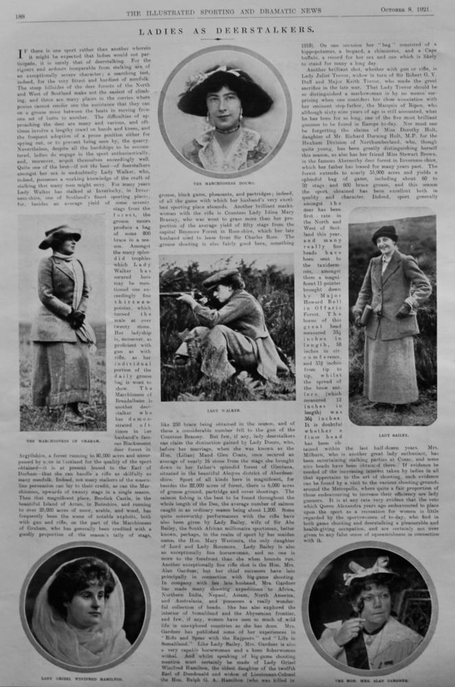 Ladies as Deerstalkers.  1921.