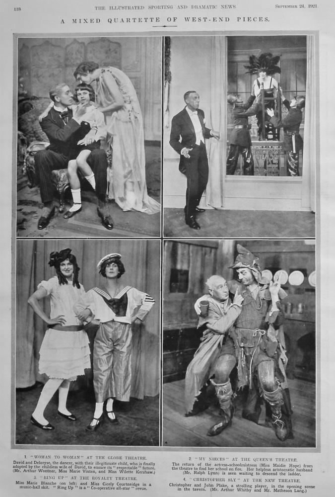 A Mixed Quartette of West-End Pieces.  1921.