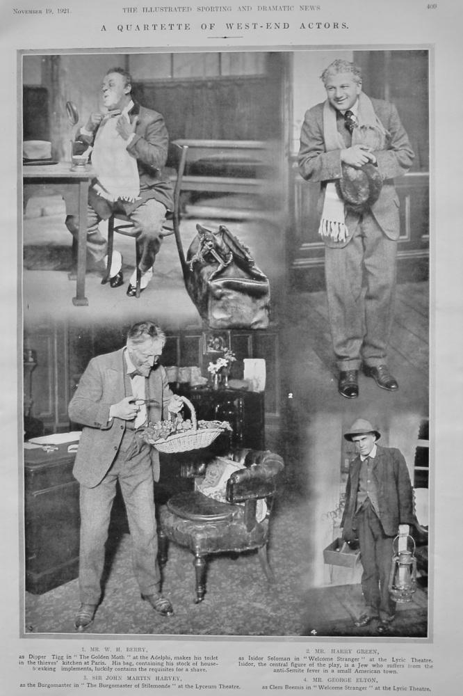 A Quartette of West-End Actors.  1921.
