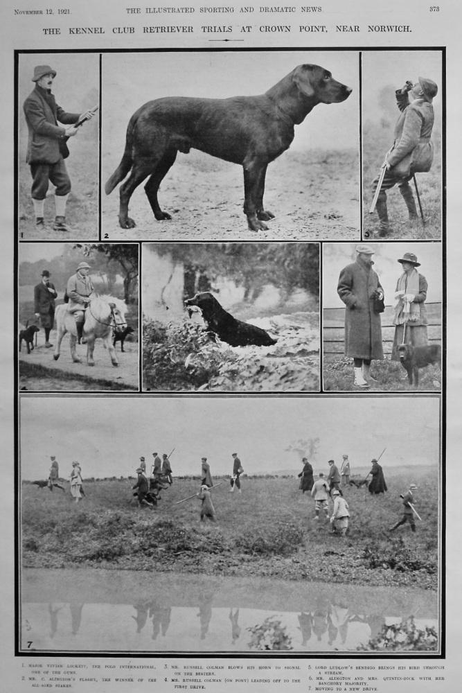 The Kennel Club Retriever Trials at Crown Point, near Norwich.  1921.