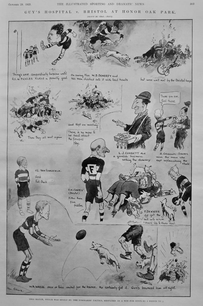 Guy's Hospital  v.  Bristol at Honor Oak Park.  1921.  (Rugby)