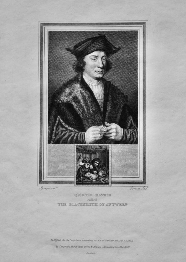 Quintin Matsys  called The Blacksmith of Antwerp.  1825.