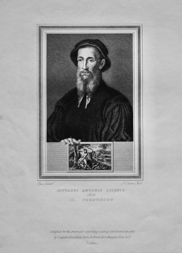 Giovanni Antonio Licinio  called Il Pordenone.  1825.