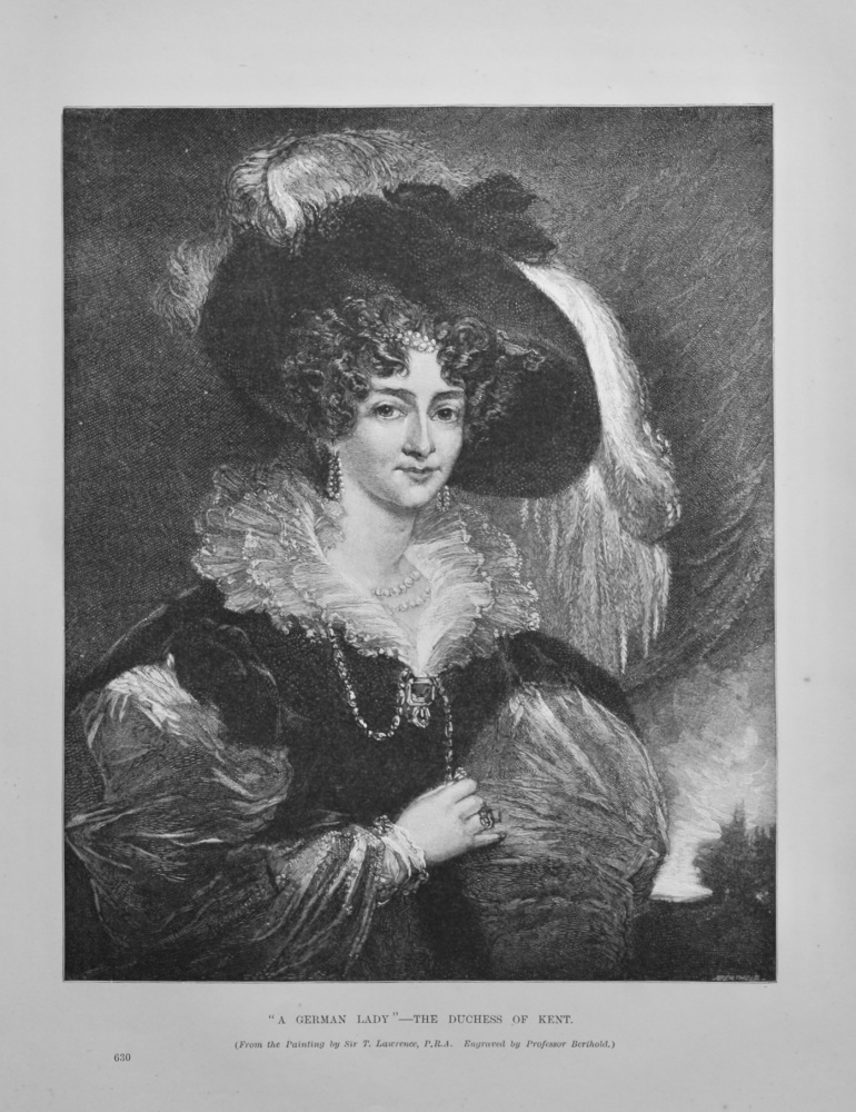 """""""A German Lady""""- The Duchess of Kent.  1891."""