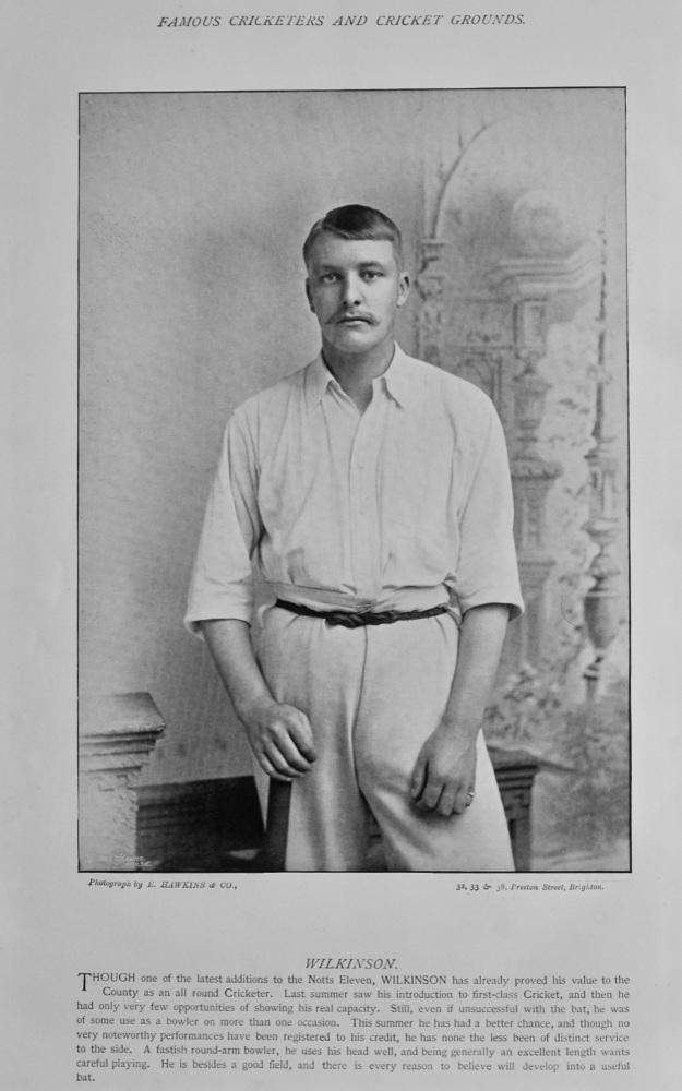 Arthur Wilkinson  &  W. W. Lowe (Cricketers).  1895.