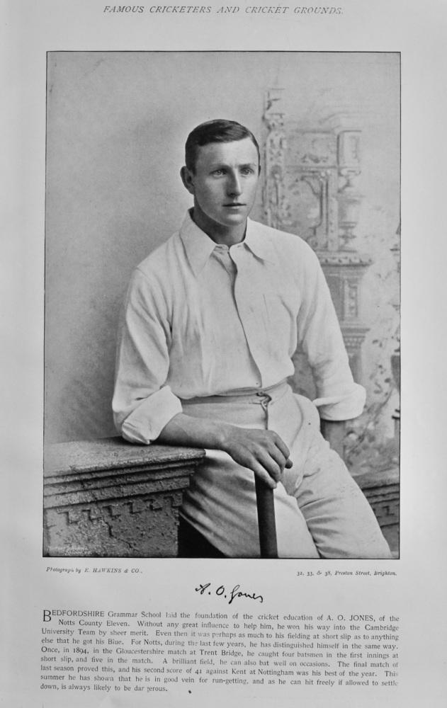 Arthur Owen Jones.  &  Francis William Marlow.  1895  (Cricketers).