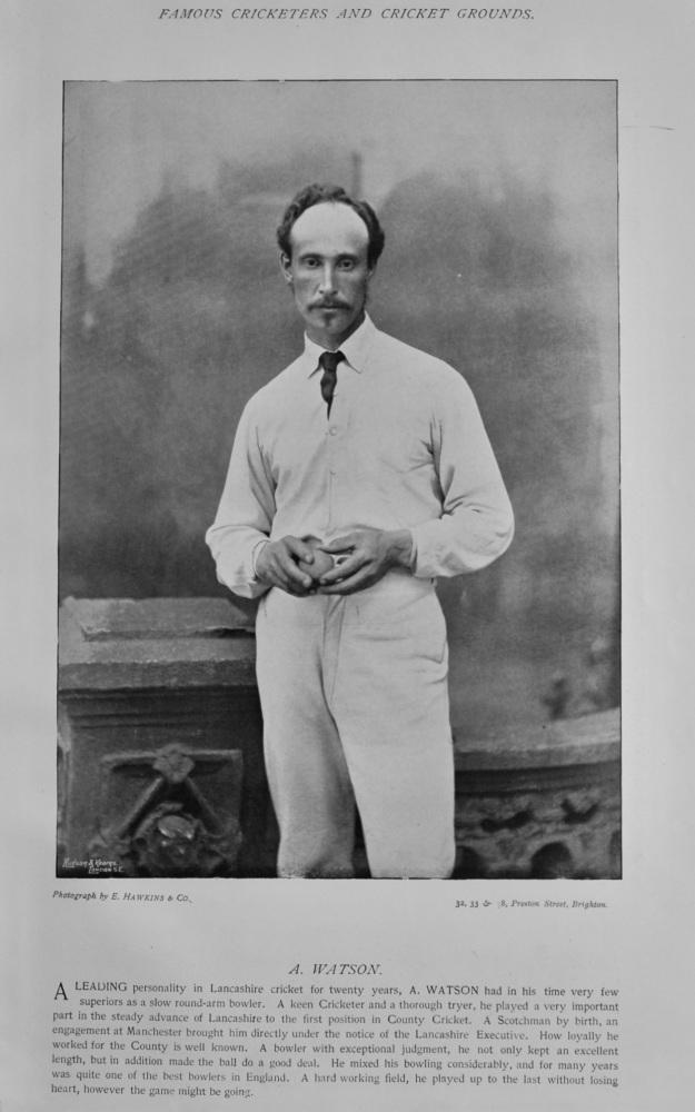 Alexander Watson  &  George Barkley Raikes.  1895.  (Cricketers).