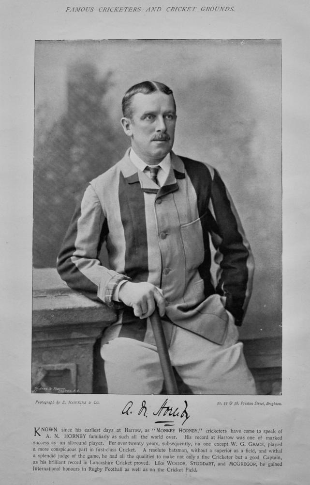 Albert Neilson Hornby  &  Frank Marchant.  1895.  (Cricketers).