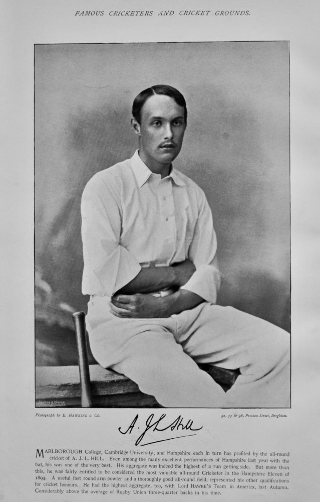 Arthur James Ledger Hill   &   Perceval J. T. Henery.  1895.  (Cricketers).
