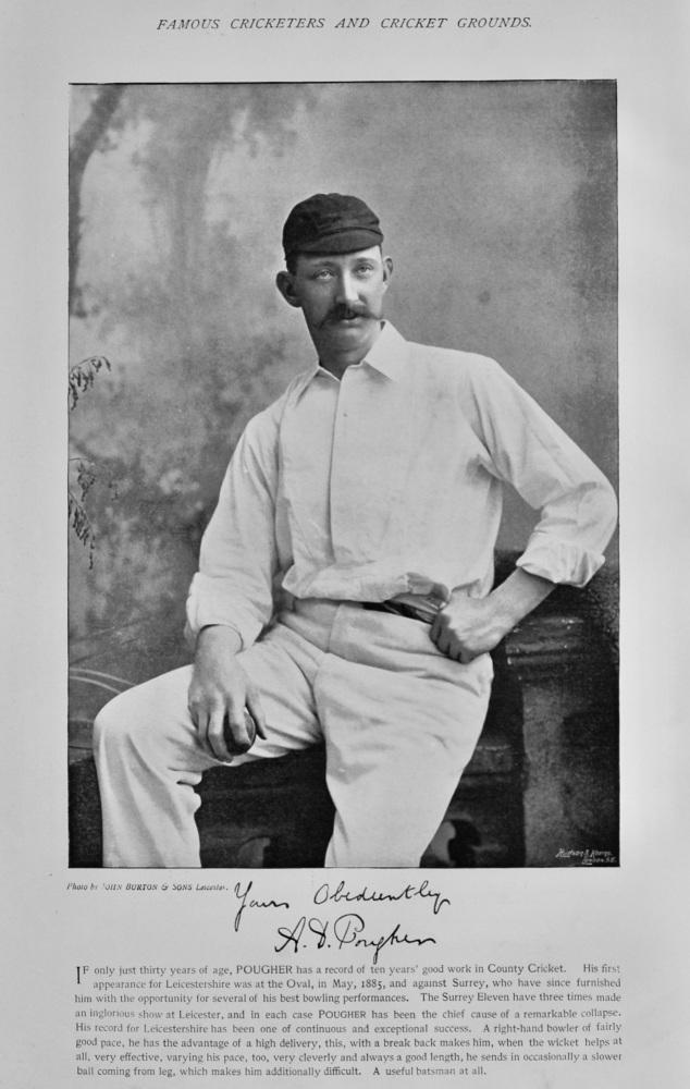 """Arthur Dick Pougher   &   The Australians,  1893, """"Eighth Team."""""""