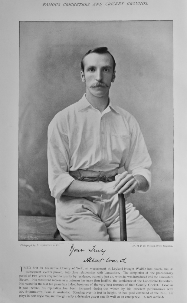 Albert Ward    &   Frank Howe Sugg.  1895.  (Cricketers)