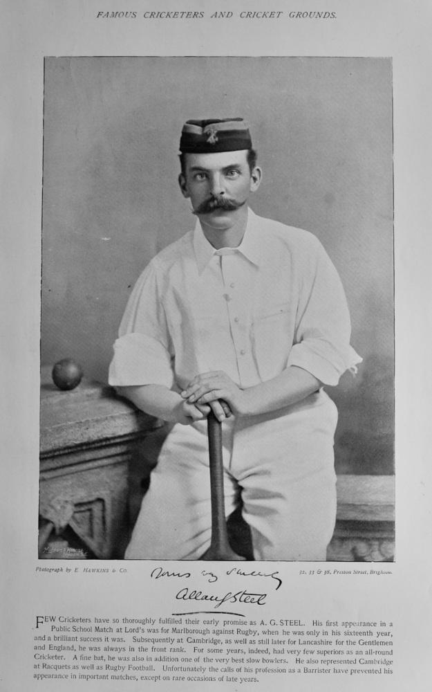 Allan Gibson Steel   &   Robert Peel.  1895.  (Cricketers)