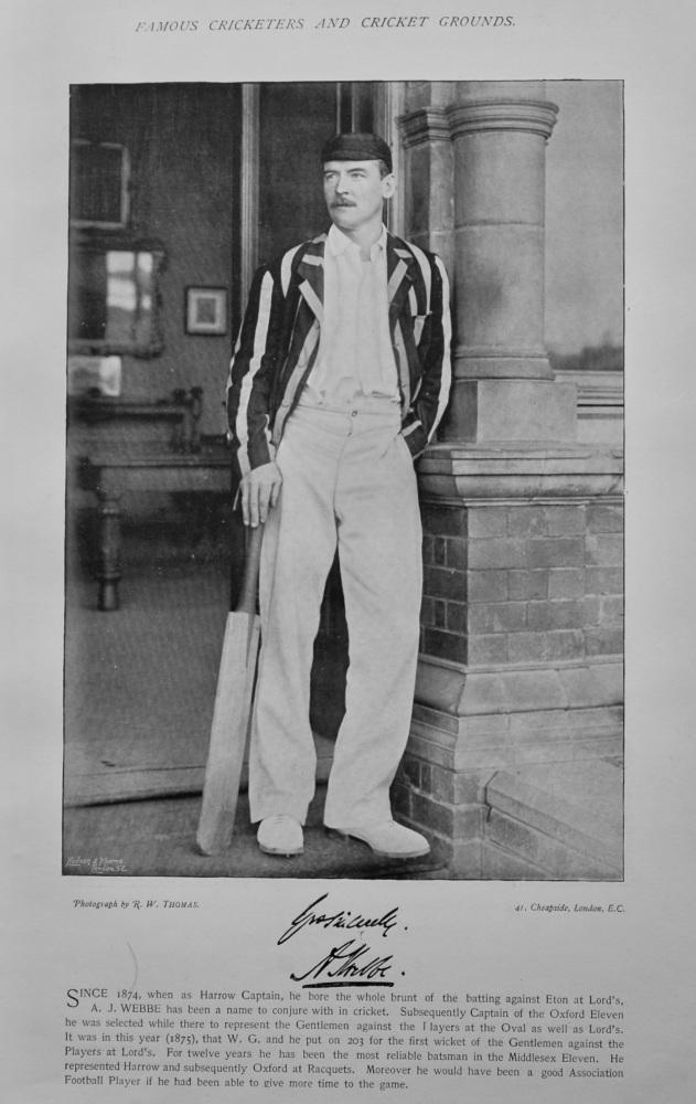 Alexander Josiah Webbe   &   Alec Hearne.  1895.  (Cricketers).