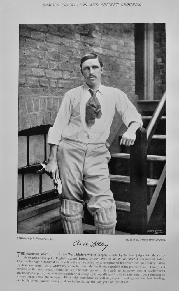 Arthur Frederick Augustus Lilley   &   John Joseph Hulme.  1895.  (Cricketers)