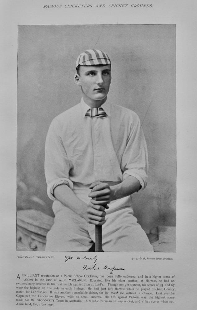 Archibald Campbell MacLaren   &   William Brockwell.  1895.  (Cricketers)