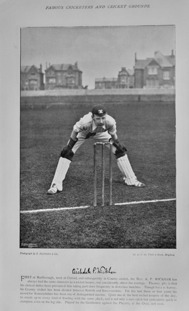 Archdale Palmer Wickham   &   Leslie Wilson.  1895.  (Cricketers)