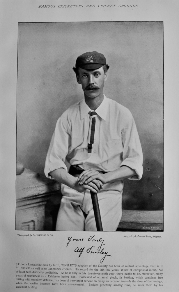 Alfred Tinsley.   &   Thomas Emmett.  1895.  (Cricketers).