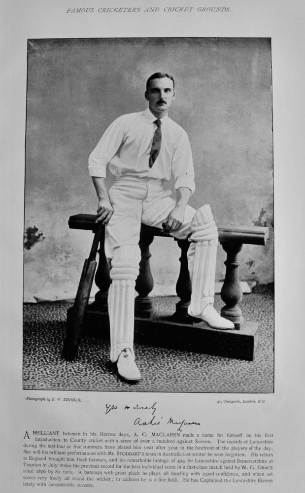 Archibald Campbell MaClaren.   &    John Burrough.   1895.  (Cricketers).