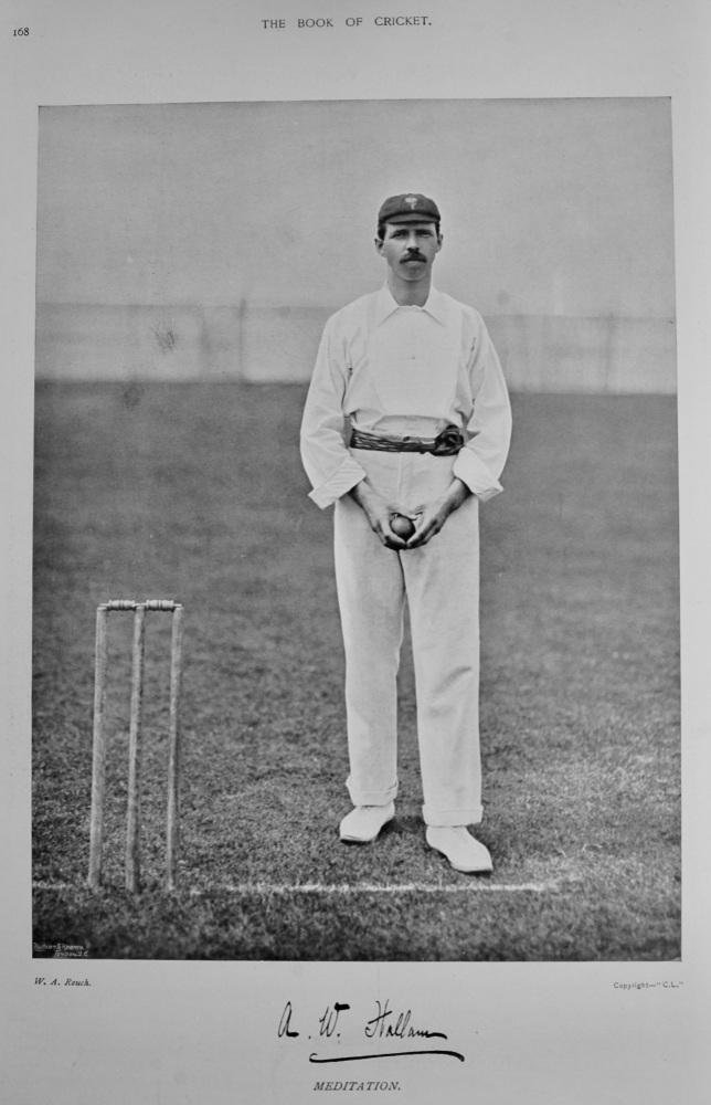 Albert William Hallam.  1899.  (Cricketer).