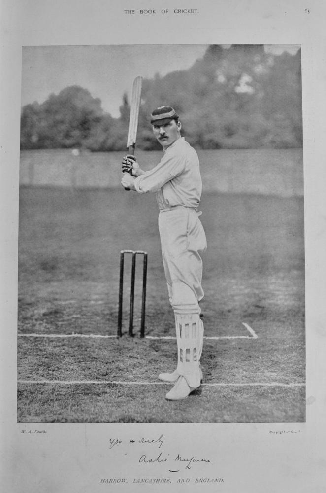 Archie Campbell Maclaren.  1899.  (Cricketer).