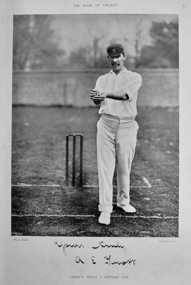Albert Edward Trott.  1899.  (Cricketer).