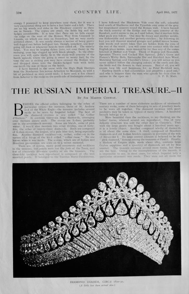 The Russian Imperial Treasure.-  II.