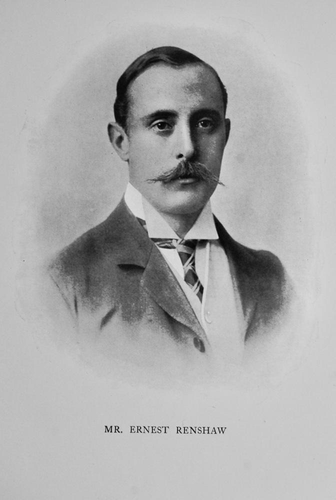Mr. Ernest James Renshaw. 1908.  (Tennis Player)
