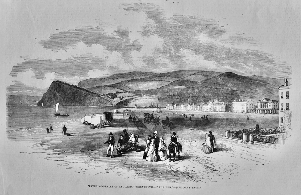 """Watering-Places of England.- Teignmouth.- """"The Den.""""  1851."""