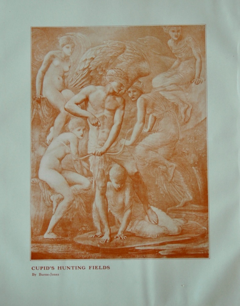 """""""Cupid's Hunting Fields"""" - colour engraving"""