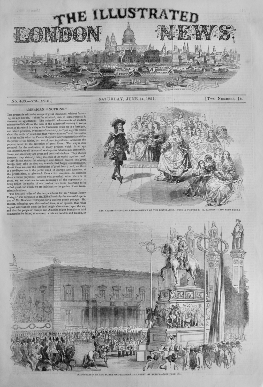 Illustrated London News, June 14th 1851.