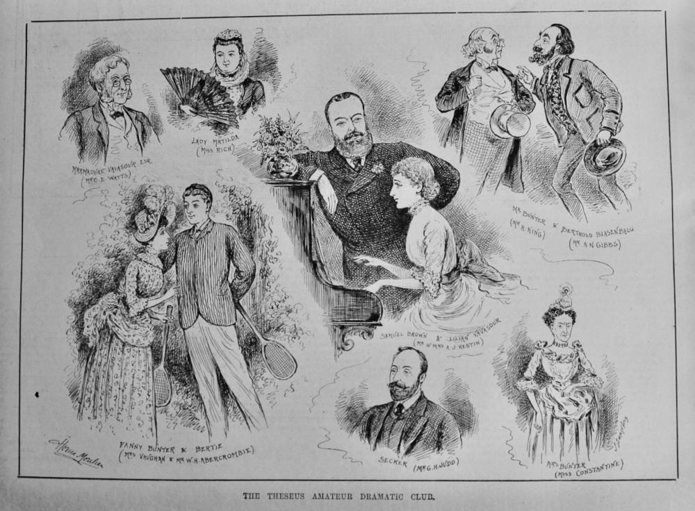 The Theseus Amateur Dramatic Club.  1887.