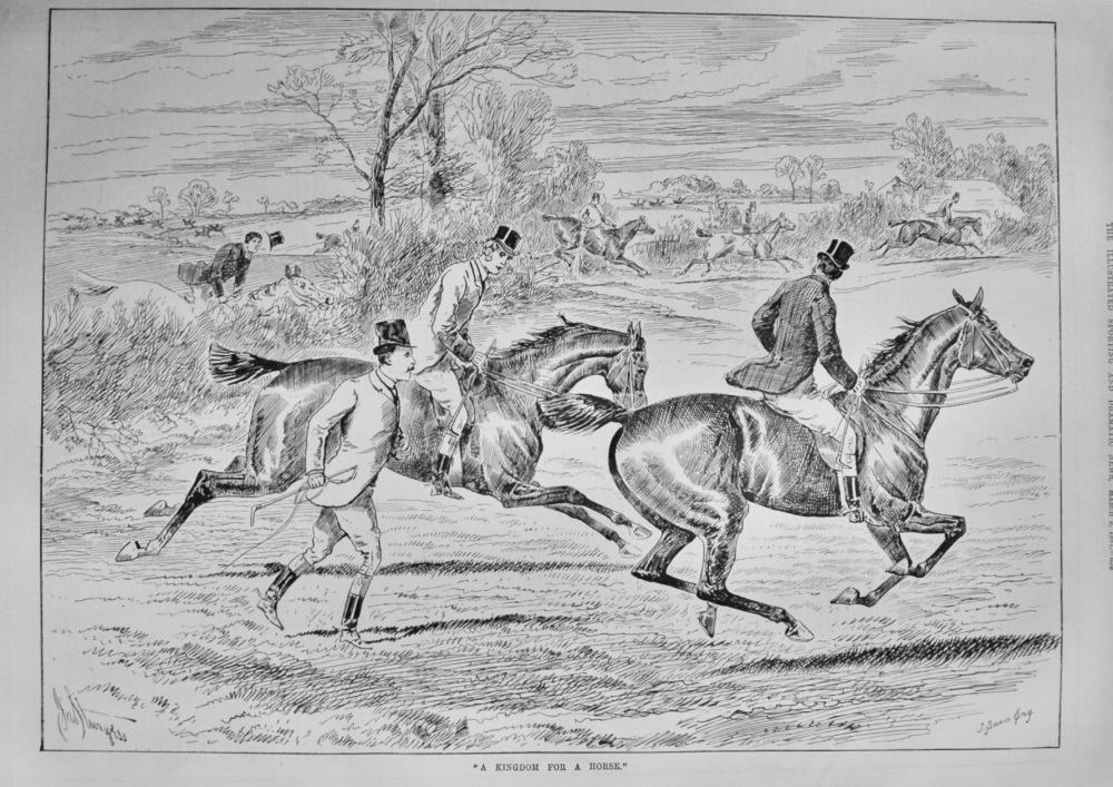 """""""A Kingdom for a Horse.""""  1887."""