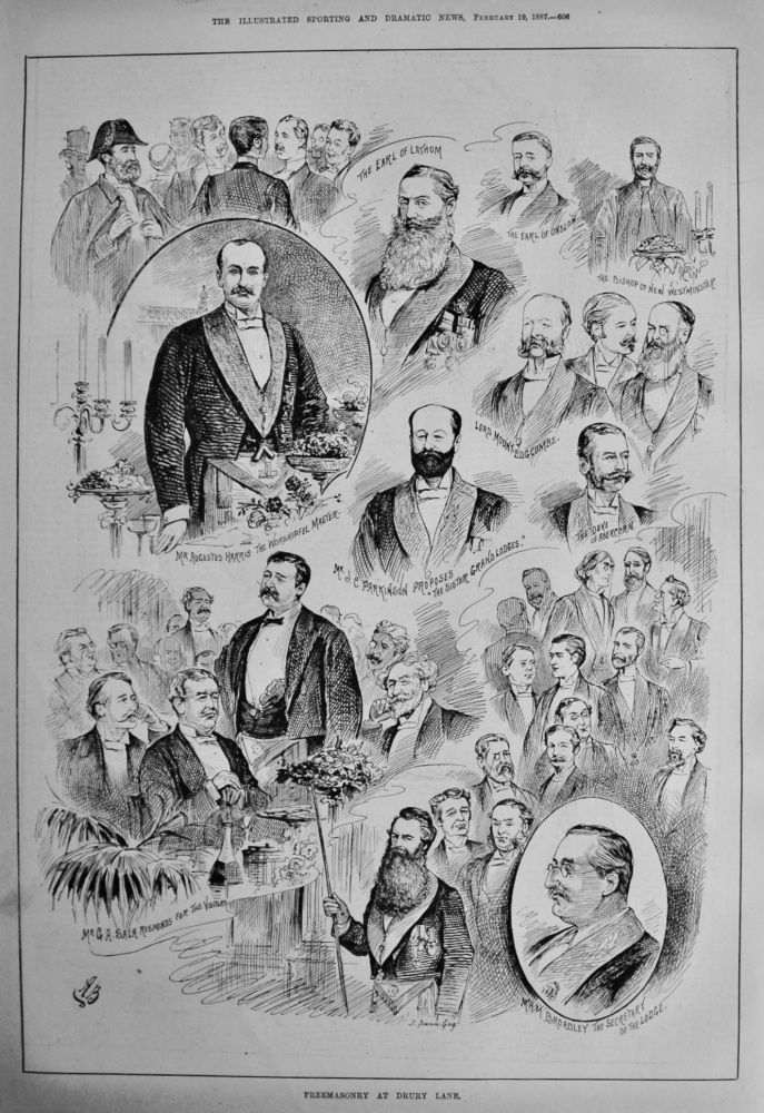 Freemasonry at Drury Lane.  1887.